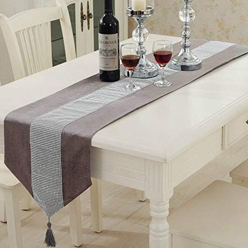 amt Diamanten Tischläufer Modernen Tischdecke Tuch Quasten mit Wandteppich Stilvolle Xmas Couchtisch Party (Grey) ()