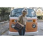 ECOSUSI Vintage Tasche Damen Umhängetasche Schultaschen Schultertasche Kurierbeutel 32.5 x 25.4 x 8.9 cm