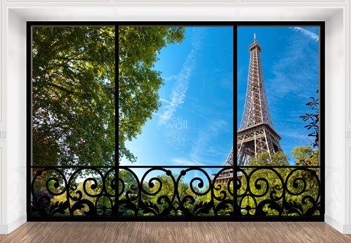 Wandbild Foto Eiffelturm Paris Frankreich, Papier, groß, Motiv: City Flash Wall