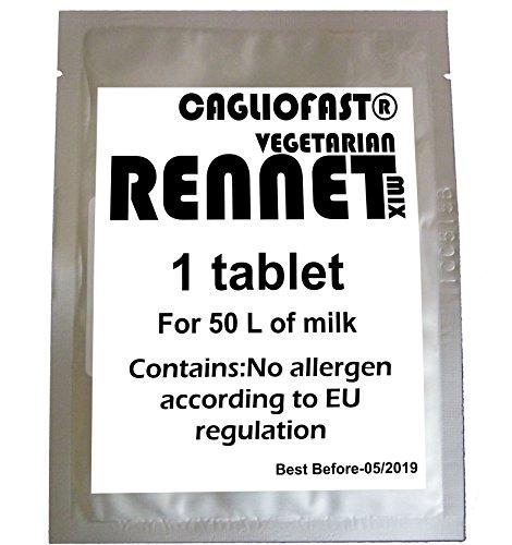 5x Caglio Schnell Tablet Vegetarisch Lab für 250l Milch... (Vegetarische Milch)