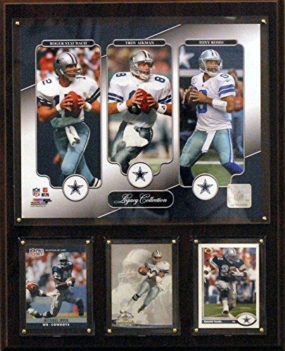 NFL Dallas Cowboys Aikman/Staubach/ROMO 12x 15Zoll Legacy Collection Plaque