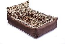 Almohada Leopard jerarquía del animal doméstico Waterloo jaula para mascotas + paño de Oxford / s cortos de felpa: 55 * 45 * 13 cm, cantidad: 65 * 55 * 14cm