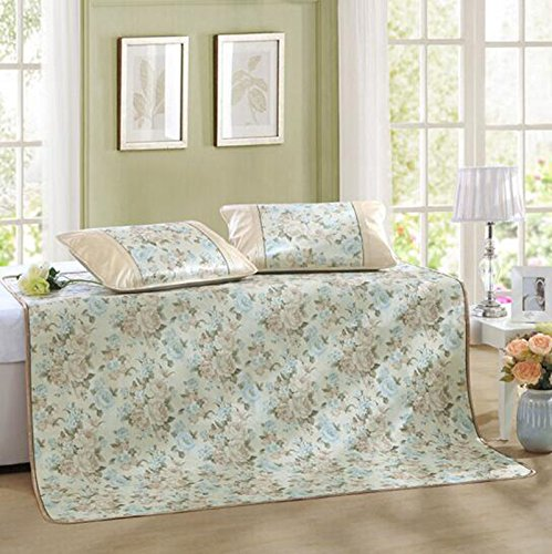 Coole Matratze Matten können gefaltet Werden Jacquard-EIS Seide Matten Sommer Klimaanlage Sitze DREI Stücke 150 * 198 Coole Bambusmatte (größe : 150 * 198)