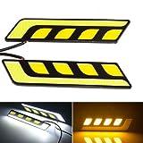 #2: EASY4BUY -1 Pair CAR LED COB DRL 6W Daytime Running Lights FOG LIGHT for - Skoda Laura