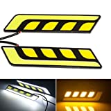 #4: EASY4BUY -1 Pair CAR LED COB DRL 6W Daytime Running Lights FOG LIGHT for - Maruti Suzuki Baleno Old