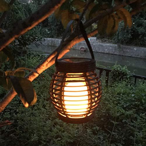 , Flackern-Flamme, Vintage-LED-Lampe, braun, marmorierter Kunststoff, dekorative Gartenbeleuchtung, Tischplatte oder zum Aufhängen ()