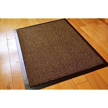 Barrier Mat Large Brown Black Door Mat Rubber Backed