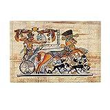 SRJ2018 EIN Reiter auf Einer Alten ägyptischen Kutsche reitet eine Kutsche mit Zwei Pferden. Superabsorbierend, Rutschfeste Matte oder Fußmatte, weich und bequem