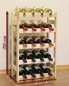 casier vin en bois pour 20 bouteilles cuisine maison. Black Bedroom Furniture Sets. Home Design Ideas