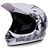 Actionbikes Motorradhelm Kinder Cross Helme Helm für Motorrad Kinderquad und Crossbike Modell Design 2015 in weiß (L)