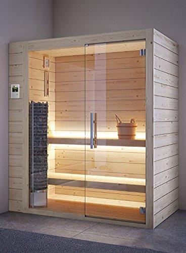 grandform Sauna elektrische Raumheizung 6Sitzer sitzen, 2Liegen und 1sitzend.Tower Pro 2525(cm. 250x 250x 208H.)