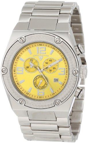 Swiss Legend Men's 40025P-77 Throttle Chronograph Yellow Dial Watch