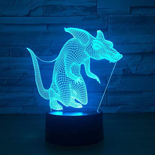 3d visual lampe süße tier wolf fox führte nachtlicht 7 farben ändern schlafzimmer baby schlafen beleuchtung dekor geschenke