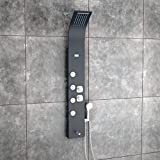 Best Shower Panels - Jaaz Zion Cascade Black Shower Panel (Thermostatic) Review