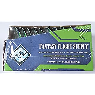 500 Fantasy Flight Games Standard American Board Game Size Sleeves - 10 Packs + Box - USA - FFS03 57 x 89