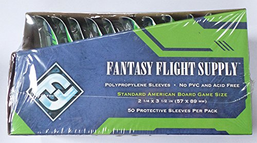 500 Fantasy Flight Games Standard American Board Game Size Sleeves - 10 Packs + Box - Brettspiel Hüllen USA - FFS03 57 x 89