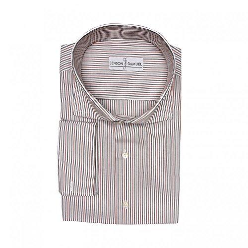 Jenson Samuel Shirts -  Camicia classiche  - Classico  - Uomo Red Grey Stripe