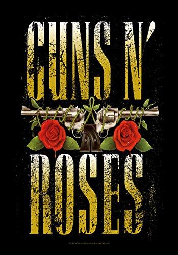 Heart Rock Licensed Bandiera Guns N' Roses - Big Guns, Tessuto, Multicolore, 110X75X0,1 cm