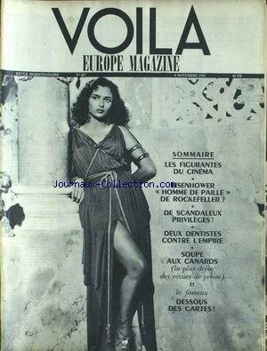 VOILA VOIR SPECIAL [No 457] du 08/11/1953 - LES FIGURANTES - EISENHOWER - ROCKFELLER - PRIVILEGES - DENTISTES.