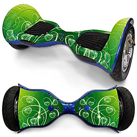 XZX Autocollant pour peau 10 pouces Self Balancing 2 roues Electric Balance Scooter Hoverboard . fresh green . 10 inches