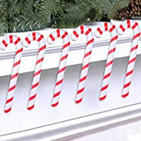 Wayfun Inflatable Christmas Candy Cane for Christmas Decorations Set of 6, christmas ornaments Outdoor Holiday Decorations