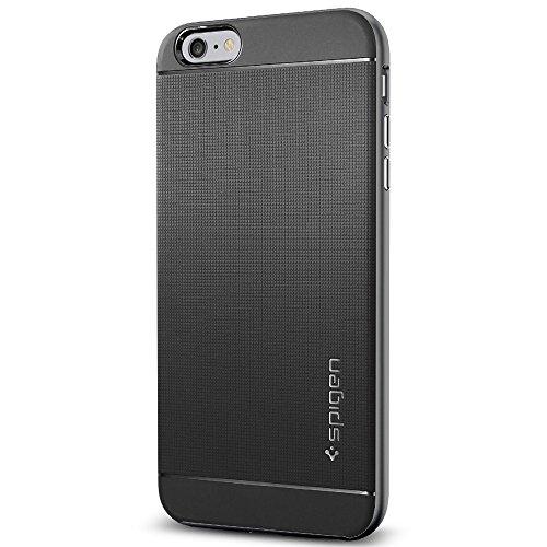"""Spigen Coque iPhone 6 Plus (5,5"""") [BOUTONS AVEC EFFET METALLISE] Protection iPhone 6 Plus (5,5"""") [Série Neo Hybrid] [Metal Slate] Coque Bumper fine pour iPhone 6 Plus (2014) - Metal Slate (SGP11063) Gunmetal"""