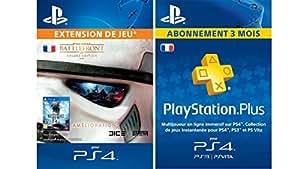 Star Wars Battlefront Deluxe Upgrade [Extension De Jeu] + PlayStationPlus : abonnement de 3 mois [Code Jeu PSN - Compte français]