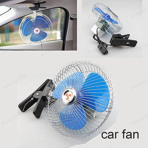 Tocoss(TM) 8 pouces 24 V 25W Mini voiture ¨¦lectrique du ventilateur basse auto ¨¦t¨¦ de bruit Climatiseur v¨¦hicule portable ventilateur de refroidissement