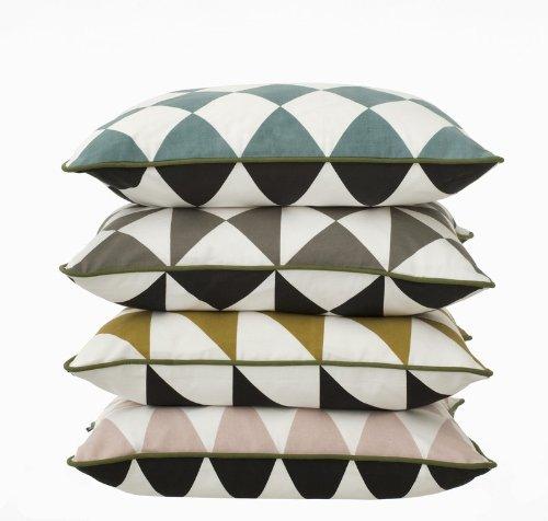Large Geometry Cushion – Grey - 2