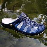 ZOEASHLEY Herren Clogs Pantoletten Sommer Strand Badeschuhe Atmungsaktiv Hausschuhe mit Rutschfest Weiche Sohle 43 EU Blue - 6
