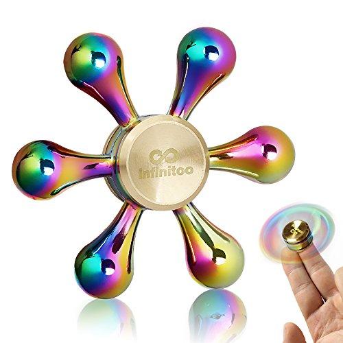 Fidget Spinner | Hand Spinner |Regalo Natale infinitoo Sei Ali Spinner Mano | Spinner Toy Cuscinetto Ad Alta Velocità Metallo Finger Spinner Ruotare 3-5 Minuti Perfetto per Adulti o Bambini