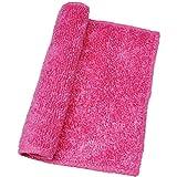 Hosaire 1 Stck Küche Lappen Bambus Kohlefaser Reinigungstücher Farbige Kitchen Reinigung Rag,Super Dekontamination,23 x 18 cm (Pink)