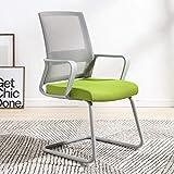 ZHU TO-329 Silla de Oficina Silla de Oficina Silla con Respaldo de casa Silla cómoda y Simple de Escritorio Silla con Arco de Marco Gris (Verde) (Color : Green)