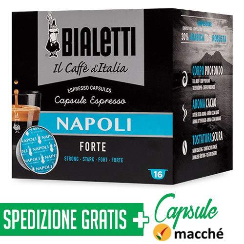 128 Capsule Alluminio Bialetti Mokespresso I Caffe\' D\'Italia Napoli + Capsule Macché