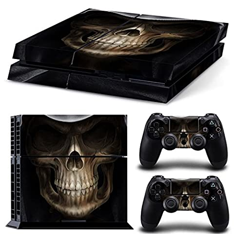 Morbuy PS4 Vinyl Skin Full Body Cover Sticker Decal For Sony Playstation 4 Console & 2 Dualshock Controller Skins (Skull