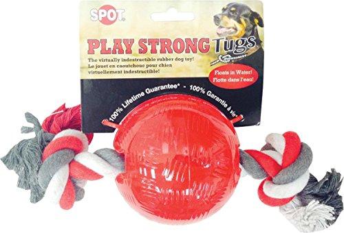 ethischen Pets Spielen stark Gummi Ball mit Seil, 8,26cm