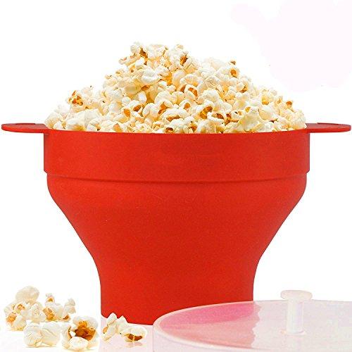 Popcorn Popper, Mikrowellen-Silikon Popcorn Maker, zusammenklappbare Schüssel mit Griffen