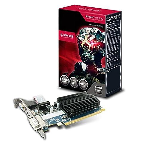 Sapphire R5 230 1G DDR3 Carte Graphique ATI Radeon R5 230 625 MHz 1024 Mo (Ati Radeon Low Profile)