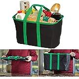 DOBO Sac Cabas Courses Chariot Bag résistant Pliable Rigide DIY Maison réutilisable Sac pour la dépense Base Rigide Sac avec poignées brigolage