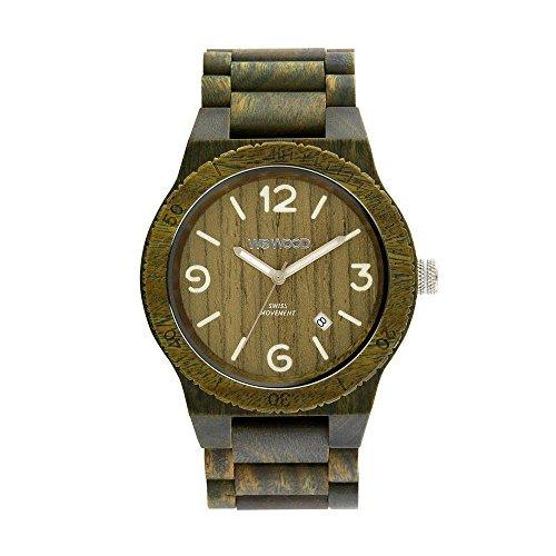 WEWOOD Reloj Analógico para Hombre de Cuarzo con Correa en Madera WW08010