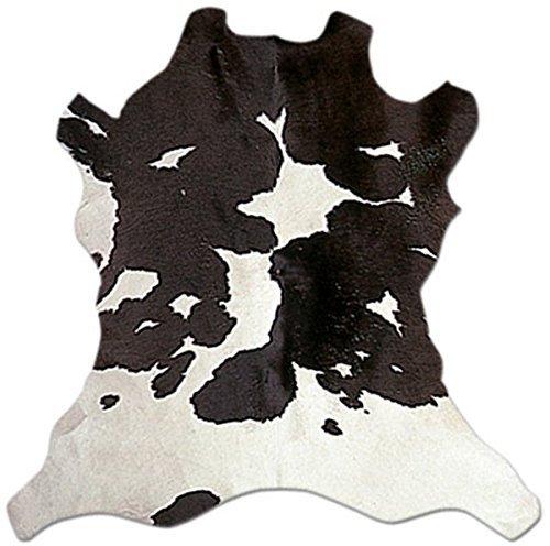 Tapis peau de Vache Noir et blanc 9118–01