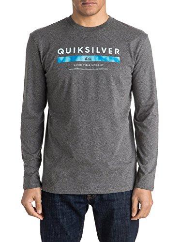 Quiksilver Men's Classic del punteggio-Maglietta a maniche lunghe per schermo, colore: grigio, 2X-Large