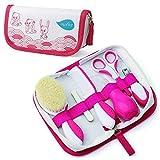 Nuvita 1136 Baby Pflegeset für Neugeborene mit Aufbewahrungstasche - Erstausstattung Gesundheitsset - Reise Pflegeset Für Kleinkinder, Säuglinge, Babys - EU Marke - Entworfen in Italien (Rosa)