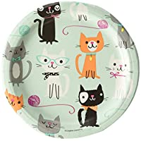 Creative Convertting Cat Purrfect Party Plate 18 cm, Multicoloured, 8C328595