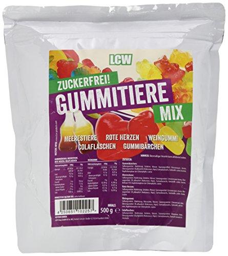LCW Zuckerfreie Gummibärchen Gummitiere Mix 500g