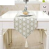 NMJNMK Simple corredor de hueco de mesa de estilo europeo/Bandera de mesa de centro moderna/Tela decorativa/Mantel de mesa-A 30x180cm(12x71inch)