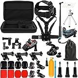 SHOOT Zubehör Set für GoPro Hero 6 5 4 3+ SJ4000 SJ5000 SJ6000 und andere Outdoor Sport Action Kamera