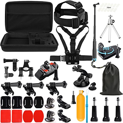 SHOOT Accessories Pack 45 en 1 Kit Selfie Bâton,Bâton Flottantde Plongée,Étui de Transport pour...