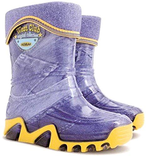 Demar Boys Girls Kids Warm Fleece Lined Wellington Boots Wellies