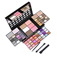 Warooma All-In-One Makeup Kit, Color Combination 36 colors Eyeshadow Palette Trimming Blush 16 Color Lipstick 12 Color Glitter Gift Set Makeup Palette for Women Teen Beginners